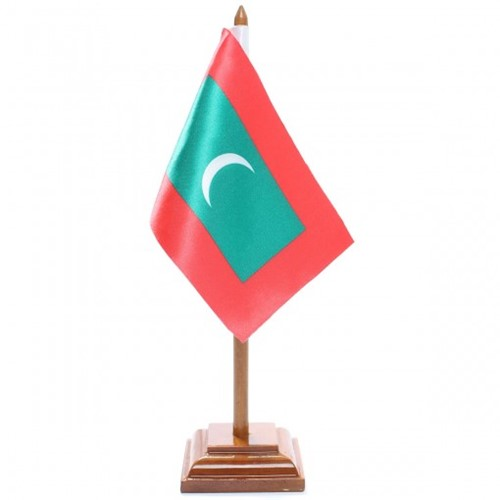 Bandeira de Mesa Maldivas 6566PM