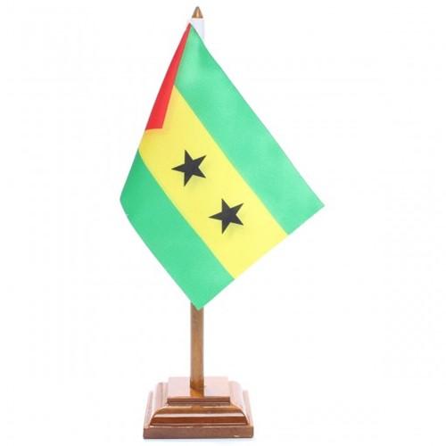Bandeira de Mesa São Tomé e Príncipe 6616PM