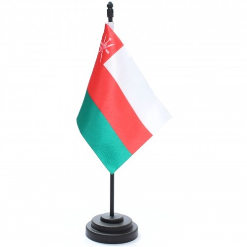 Bandeira de Mesa Sultanato de Omã Bandemar