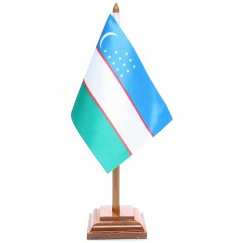 Bandeira de Mesa Uzbequistão 6646PM