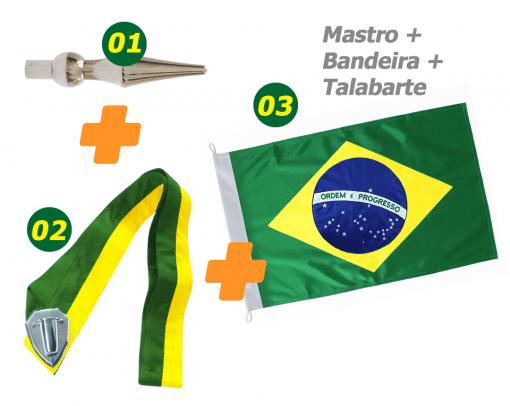 Bandeira + Mastro + Talabarte M1t1b1