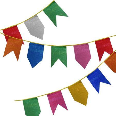 Bandeirinha de Festa Junina de Plástico - 10 Metros