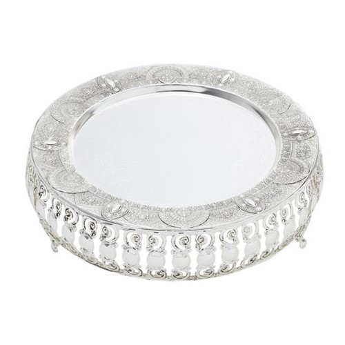 Bandeja Ametista Silver Plated de Zamac 26X26X7,8 Cm