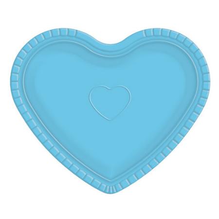 Bandeja Coração Azul - 30cm X 35cm - Unidade