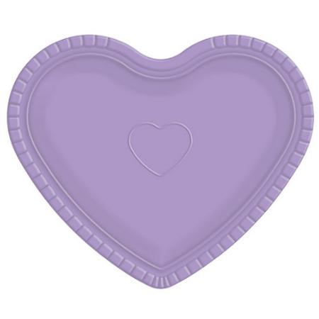 Bandeja Coração Lilás - 30cm X 35cm - Unidade