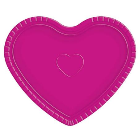 Bandeja Coração Pink - 30cm X 35cm - Unidade