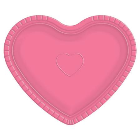 Bandeja Coração Rosa - 30cm X 35cm - Unidade