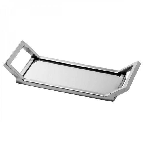 Bandeja de Aço Inox com Espelho 27,5cmx10,5cm Mirror Rojemac Cinza