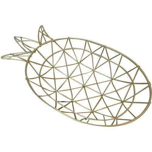 Bandeja de Metal Dourada Wired Pineapple Urban
