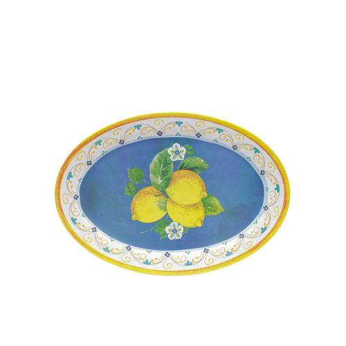 Bandeja Oval em Melamina Bon Gourmet Lemon 41cm