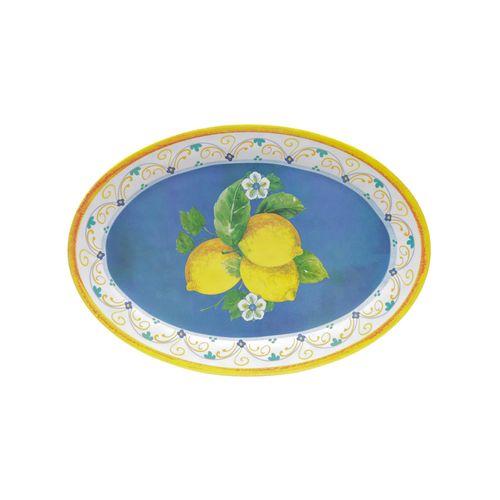 Bandeja Oval em Melamina Bon Gourmet Lemon 50,5cm
