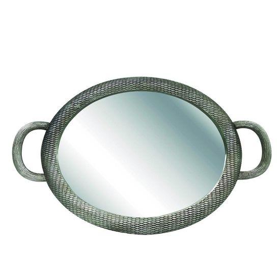 Bandeja Oval Escamada Prata