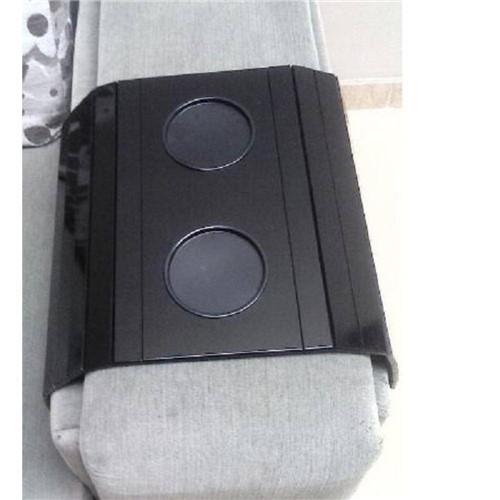 Bandeja para Sofá com Porta Copos Laqueada - Preta