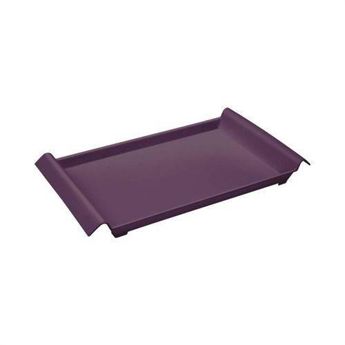 Bandeja Pequena em Polipropileno Roxo Púrpura 34cm Coza