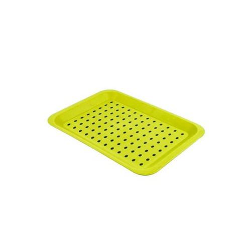 Bandeja Plástica Antiderrapante 33 X 23 Cm 22365 Verde