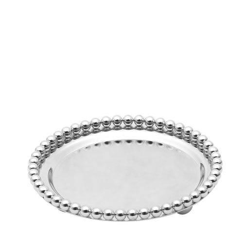 Bandeja Redonda de Zamac Balls Silver Plated 13,3X13,3X2,3CM