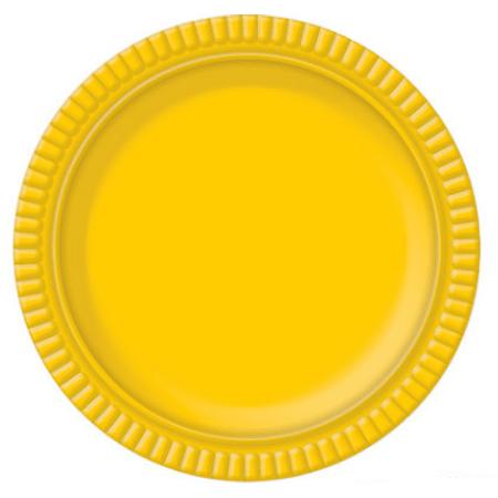 Bandeja Redonda N.4 Amarelo - 25cm - Unidade