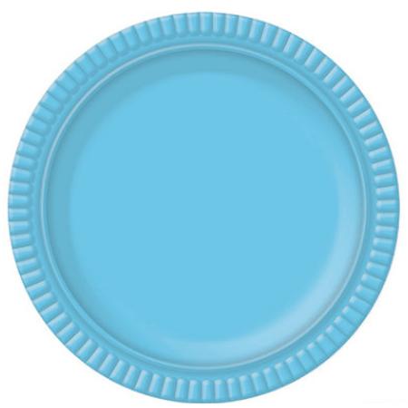 Bandeja Redonda N.4 Azul Claro - 25cm - Unidade