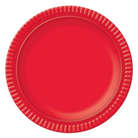 Bandeja Redonda N.4 Vermelha - 25cm - Unidade