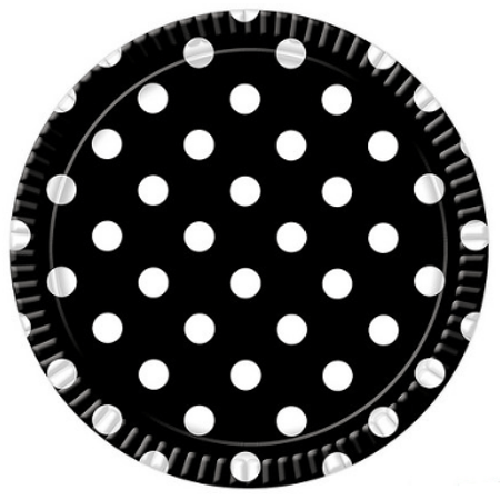 Bandeja Redonda N.6 Anos Dourados Black - 32cm - Unidade