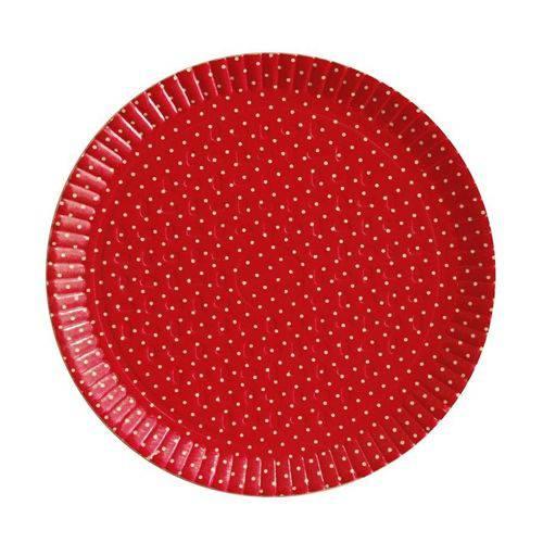 Bandeja Redonda Poá Vermelho N6