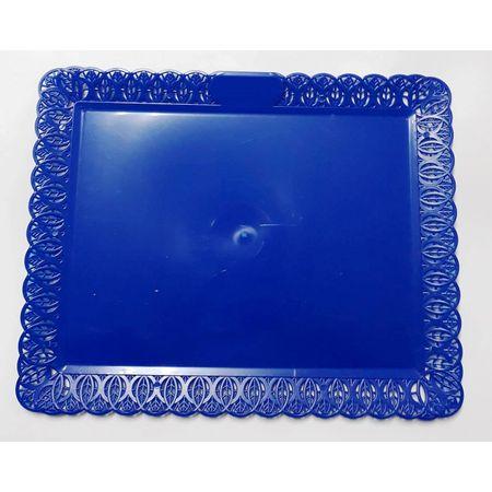 Bandeja Rendada Retangular Azul 28x34cm