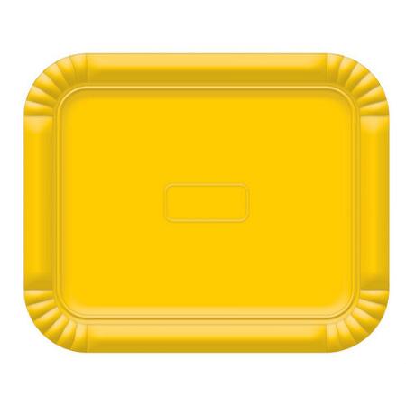 Bandeja Retangular N.3 Amarelo - 22cm X 27cm - Unidade