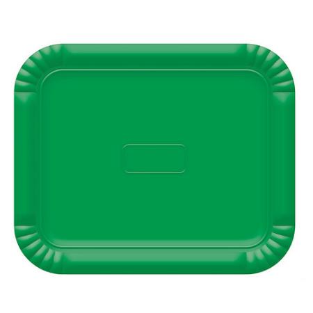 Bandeja Retangular N.3 Verde Escuro - 22cm X 27cm - Unidade