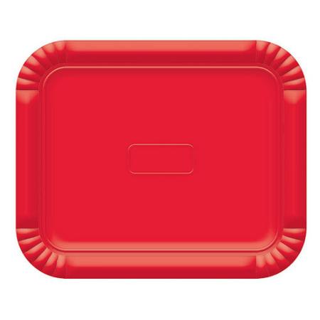Bandeja Retangular N.3 Vermelha - 22cm X 27cm - Unidade
