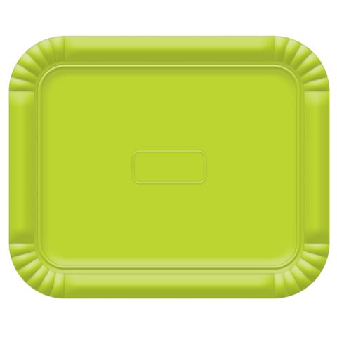 Bandeja Verde Limão No4 33x27cm - Ultrafest