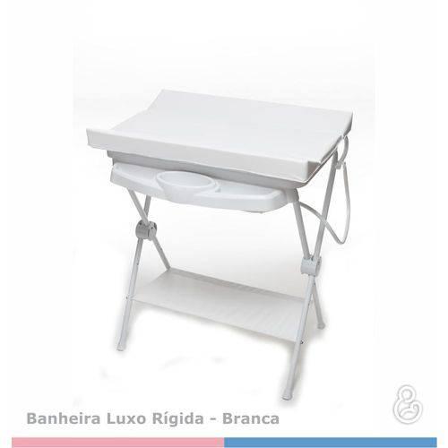 Banheira Bebê Luxo Rígida Branca - Galzerano