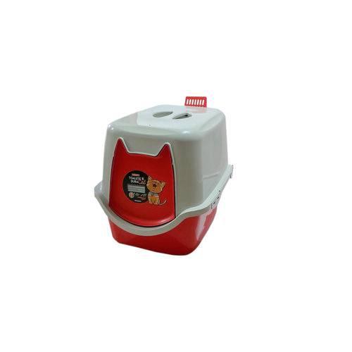 Banheiro Higiênico para Gatos Vermelho