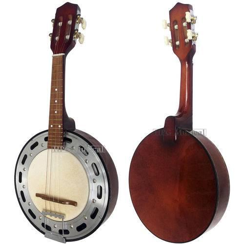 Banjo Clave Sonora Acústico Natural Escuro