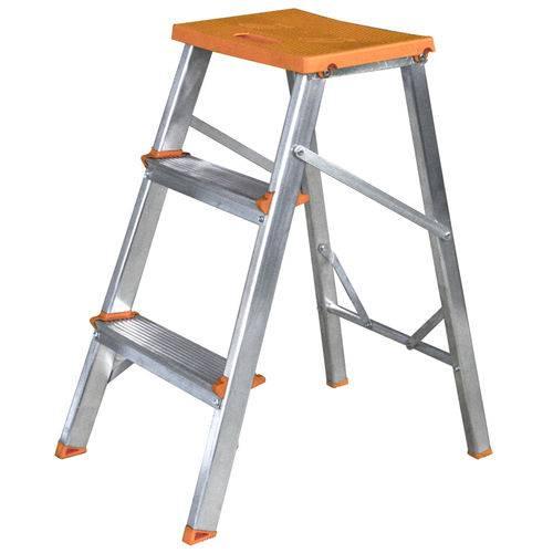 Banqueta Escada Alumínio - 3 Degraus - Tools 003