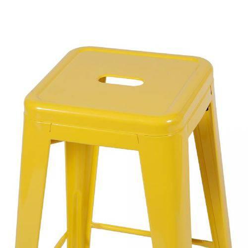 Banqueta Or Design Iron Alto Amarelo