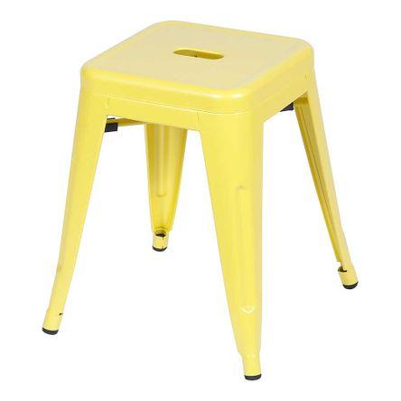 Banqueta Retro Baixa Amarelo