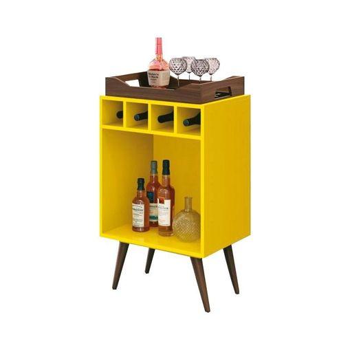 Bar com Bandeja Amarelo Pub EDN
