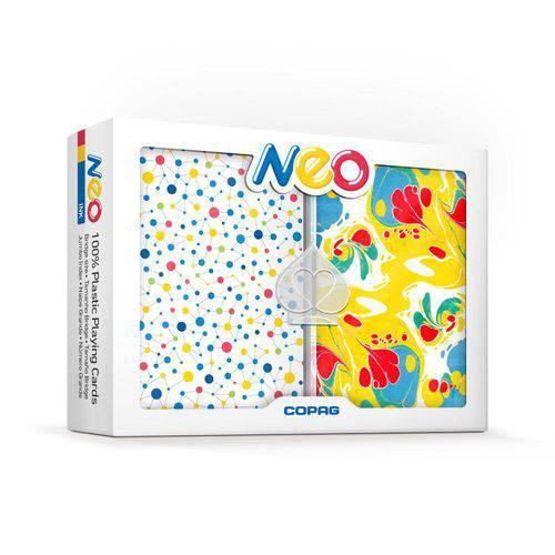Baralho Neo Ink Estojo Duplo 100% Plástico Naipe Grande