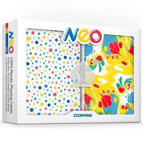 Baralho Neo Ink Estojo Duplo 100% Plástico - Naipe Grande