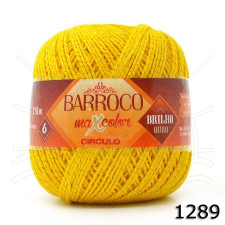 Barbante Barroco MaxColor Brilho Ouro Nº06 200g 1289 - Amarelo