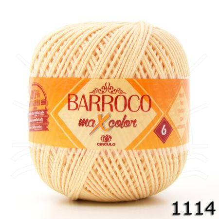 Barbante Barroco MaxColor Candy Colors Nº06 200g 1114 - Amarelo