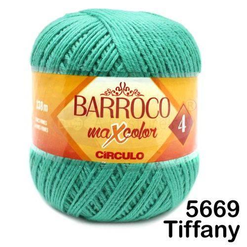 Barbante Barroco Maxcolor Círculo Nº4 200g -Cor: 5669