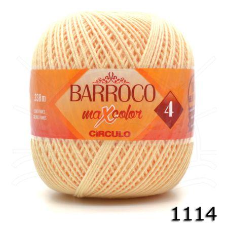 Barbante Barroco MaxColor Moda Candy Colors Nº04 200g 1114 - Amarelo