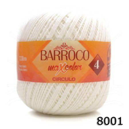 Barbante Barroco MaxColor Moda Nº04 200g 8001 Branco