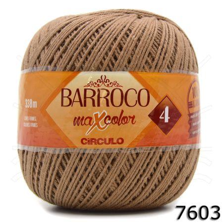 Barbante Barroco MaxColor Nº04 Moda 200g - Coleção 2018 7603 Castor