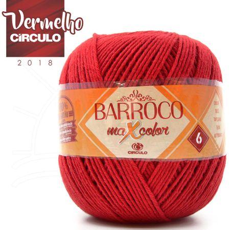 Barbante Barroco MaxColor Nº06 200g - 3402 Vermelho Círculo