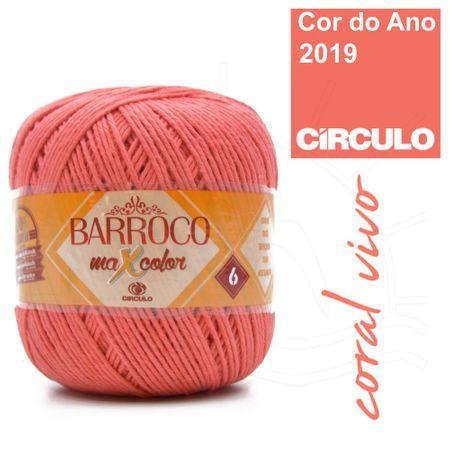 Barbante Barroco MaxColor Nº06 200g - 4004 Coral Vivo