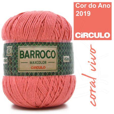 Barbante Barroco MaxColor Nº06 400g - 4004 Coral Vivo
