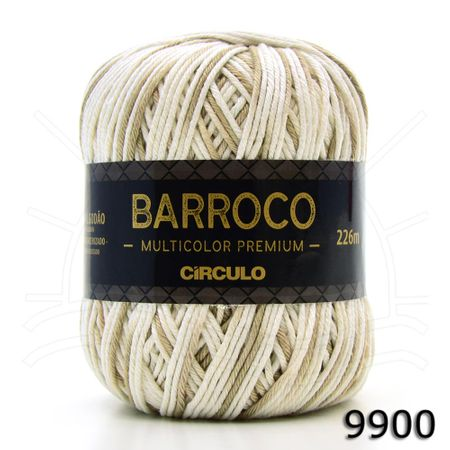 Barbante Barroco Multicolor Premium 200g 9900 Areia
