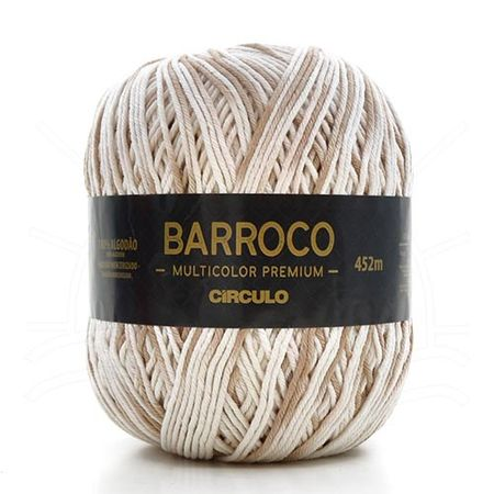 Barbante Barroco Multicolor Premium 400g 9900 Areia
